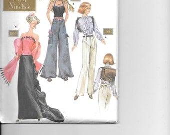 Simplicity 7081, Barbie Fashion Pattern, Nifty Ninetie