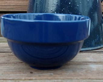 Blue Mixing Bowl/Cobalt Blue/Used Vintage/Small Mixing Bowl