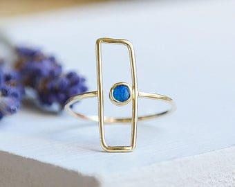 Opal Ring, Gold Ring, Stacking Ring, Solid Gold Ring, Opal Jewelry, Gemstone Ring, Dainty Ring, Gold Stacking Ring, 9ct Gold Ring, Opal