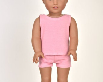 """Combo Set """"Simple Basics"""" 18 inch doll clothes Color Dusty Pink"""