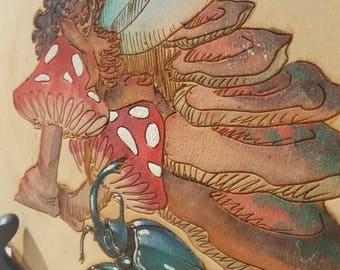Mushroom Fairy Faerie Fey Fae - by Yarrish Arts