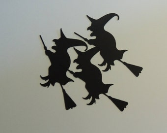 Witch Die Cut, Paper Die Cut, Witches Silhouette