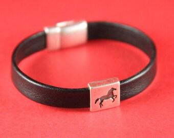3A/1 MADE in EUROPE 2 zamak horse sliders, horse slider, 10mm flat cord slider, 10mm flat cord horse slider (75408/10) qty2