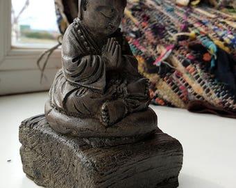 BUDDHA GARDEN ORNAMENT Stone Cast Statue * Hand Made