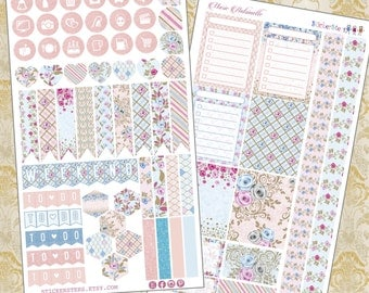 Marie Antionette Mini Kits Planner Layout Cute Planner Stickers