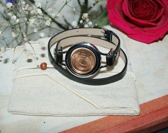 Lucky Irish Penny Bracelet- jewellery-Black or Brown-Gift