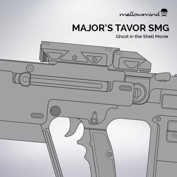 Ghost in the shell majors tavor smg blueprint 11 scale from ghost in the shell majors tavor smg blueprint 11 scale from mellowmindcosplay on etsy studio malvernweather Gallery