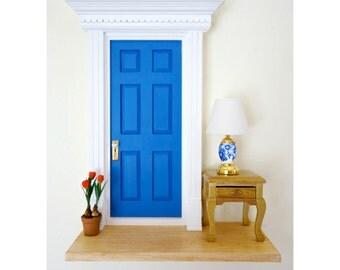 LED Fairy Door, Fairy Door with Light, Miniature LED light, Miniature Fairy Door with light, blue fairy door, Blue fairy light