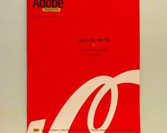 Adobe Magazine, Jul/Aug 1996, Lasting Marks, Logos, Publishing, Design + Digital Media, Volume 7, Number 6, Vintage, Back Issue