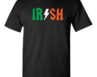 Saint Patrick's Day, Irish Ac/Dc t shirt, shirt, St. Patrick's Day