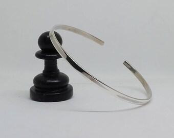 3mm Plain Sterling Silver Bangle Bracelet
