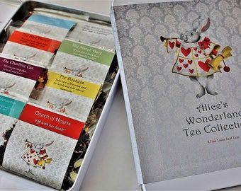 Alice's Wonderland Tea Collection - Inspired by the Alice's Adventures in Wonderland Tales - Tea Gift - Literary Tea Gift - Bookish Gift