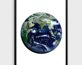 Earth Print | Earth Photo, Planet Print, Earth Wall Art, Instant Download, Earth Printable Art, Planet Wall Art, Planet Earth Art, Earth