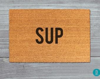 Sup Doormat, Sup Door Mat, Sup Welcome Mat, Sup Mat, Sup, Funny Doormat, Whats Up Doormat, Sup Rug, Whats Up, What's Up Doormat, What's Up