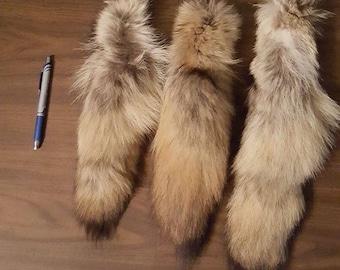 Fur Coyote Tail Keychain