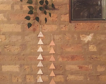 Triangles Wall Hanging - pale pink, splatter