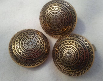 3 Dome BUTTON COVERS,Vintage