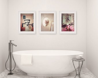 Bathroom Decor Set Of 3 Photographs Bathroom Art Set Wall Art Faucet