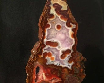 Ameytist and red agate slab