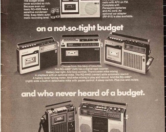 Panasonic Cassette Recorders Ad from 1975 (HR75-10)