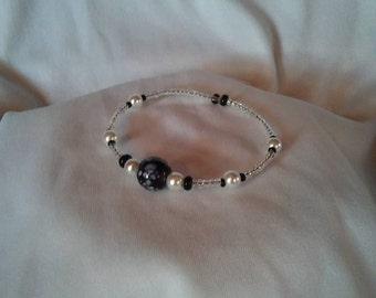 Speckled Black Marble Clutch Bracelet