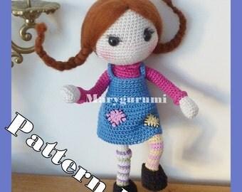 Crochet Pattern, pattern, tutorial, Amigurumi doll, Fifi / Pippi