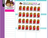 Friyay Planner Stickers | French Fries | Doodle Planner Stickers | Food Stickers | Junk Food Stickers | Weekend Stickers | 314