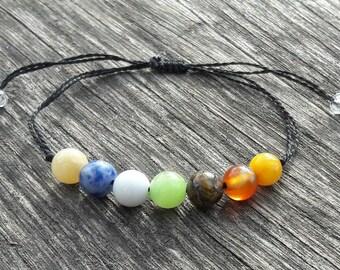 7 Chakra Bracelet Crystal Healing Bracelet Yoga Bracelet Protection Bracelet Calming bracelet gift wife gift for mom gift mens gift for him