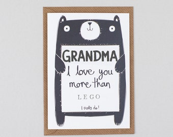 Grandma Birthday Card, Card for Gran, Card for Nana, Card for Granny,  Personalised Birthday Card for Grandma, Free UK Delivery