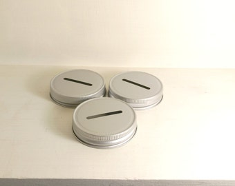 Mason Jar Coin Lids Mason Jar Piggy Bank