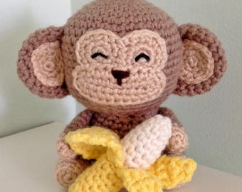 Monkey Amigurumi Crochet Pattern, Monkey Crochet Tutorial, Monkey Plushie Tutorial, Monkey Zodiac Amigurumi Pattern
