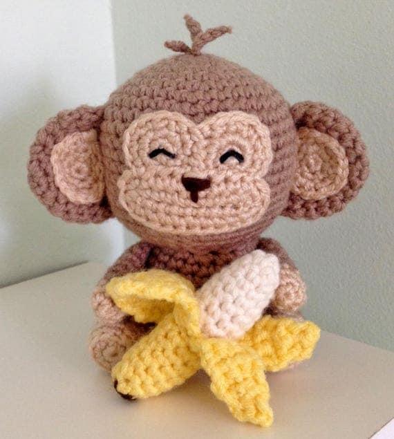 Monkey Amigurumi Knitting Pattern : Monkey Amigurumi Crochet Pattern, Monkey Crochet Tutorial ...