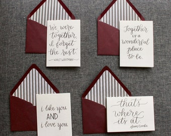 custom love note || hand lettering || anniversary || love notes || stationery