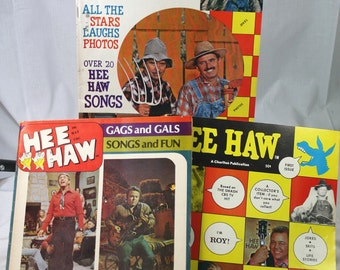 Vintage Hee Haw Television Show Magazines- Lot Of 3-1970's