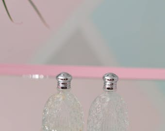 Vintage Cut Glass Salt & Pepper Shaker Set - Elegant!