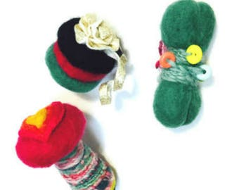 Fantasy Mushroom and Needle Felted Cat Toys, Needle Felted Toys, Cat Toys, Felt Cat Toys, Wool Cat Play Toys, Cat Lover Gifts