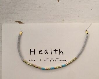 Custom Made Morse Code Bracelet