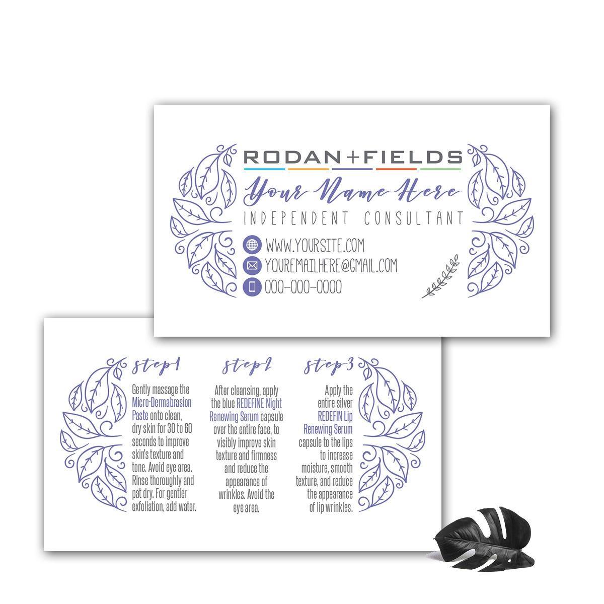 Rodan and Fields Mini Facial Cards, Rodan And Fields Business ...