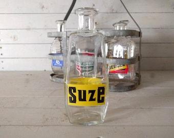 Suze Gentiane Aperitif Branded Water Carafe / Pitcher, Original Vintage French Bistro Barware, Promotional Glassware