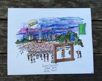 Austin City Limits Music Festival, Austin TX Print