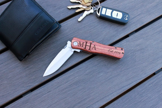 Wedding Present Knife : Knife, Custom Knife, Wedding Gift, Groom Gift, Custom pocket Knife ...