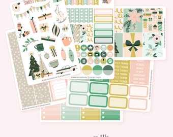 VINTAGE HOLIDAY Planner Sticker Set | Fits ECLP or Happy Planner