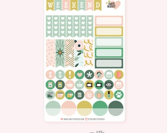 Functional Planner Stickers | VINTAGE HOLIDAY