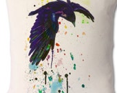 Chromatic, Crow Ink and Watercolour Art print Cushion