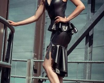 Elizabeth Latex Dress - In Stock in S