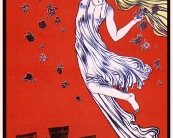 Soviet propaganda print  May Day celebration vintage USSR poster repro