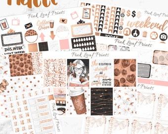 MATTE | Coffee Queen | Weekly Planner Sticker Kit