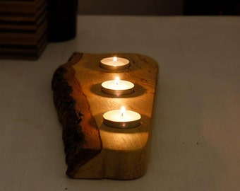 Candleholder  Wooden Candleholder Rustic Candleholder Handmade Нome decor