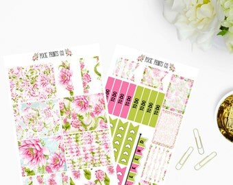 Lotus Planner Sticker Kit, for use with Erin Condren, ECLP, Life Planner, Planner Stickers