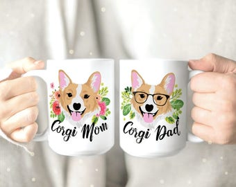 Cute Corgi Mug - Corgi Lover Gift - Corgi Gifts - Corgi Owner Gifts - Funny Corgi Mug - Pembroke Corgi - Corgi Mom Mug - Couples Mug